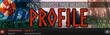 How to Customize your Valheimian Profile Page Valheim Article