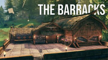 The Barracks Valheim Build