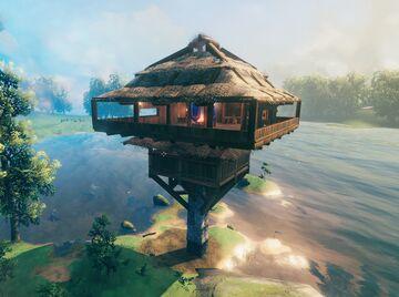 Tower Home Valheim Build