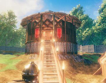 My Round house Valheim Build
