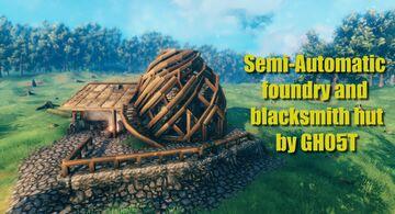 Semi-automatic smelter / foundry and blacksmith shop Valheim Build