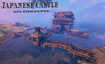Japanese Castle *25%* Valheim Build