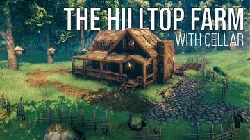 The Hilltop Farm (With Cellar) Valheim Build