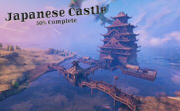 Japanese Castle *50%* Valheim Build