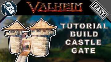 Stone Castle Gatehouse - Outer Wall Defenses - Tutorial Valheim Build