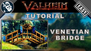 Small Venetian Bridge Design - Can be Crossed by Full Loaded Cart - Tutorial Valheim Build