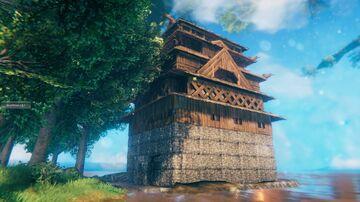 Himeji Castle Valheim Build