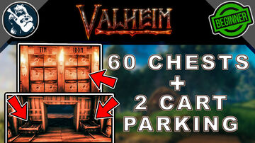 How to Build the Best Early Storage Room - Tutorial Valheim Build