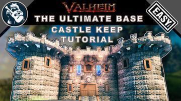 Best Large House Design Tutorial | How to Build a Stone Castle in Valheim Valheim Build