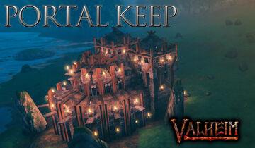 Portal Room keep Valheim Build