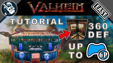 How to Build your 1st Wood Castle Tower Tutorial in Valheim Valheim Build