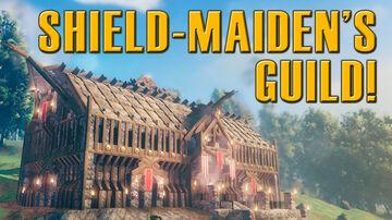A Regal home for the Shield-Maidens. Valheim Build