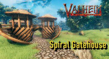 Simple Spiral Gatehouse Valheim Build