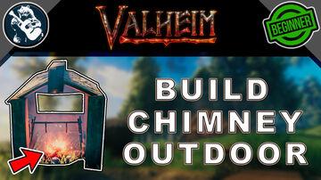 Simple Outdoor Chimney - Tutorial Valheim Build