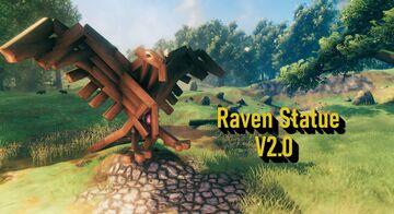 Raven Statue V2.0 Valheim Build