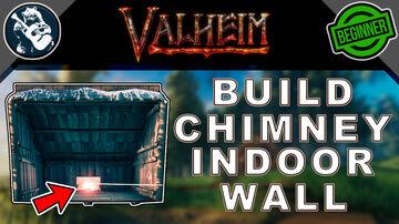 Indoor Wall Chimney - Tutorial Valheim Build