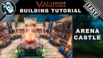 Build a Stone Castle Arena in Valheim | Building Tutorial Valheim Build