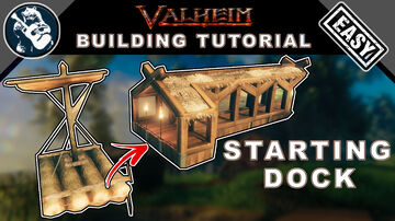 How to Build a Starting Dock for your Raft Valheim Build