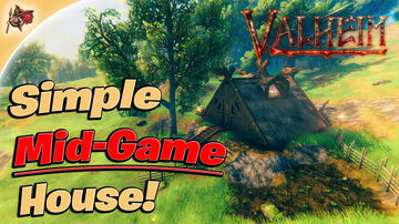 How to Build a Simple Mid-Game House Valheim Build