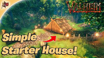 Quick & Easy Starter House Tutorial! Valheim Build