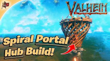 Spiral Portal Hub Build Tutorial Valheim Build