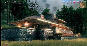 Replica of Frank LLoyd Wright's Robie House Valheim Build