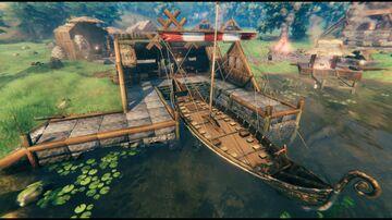 Open longboat dock Valheim Build