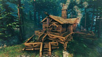 Starter house Log cabin Valheim Build
