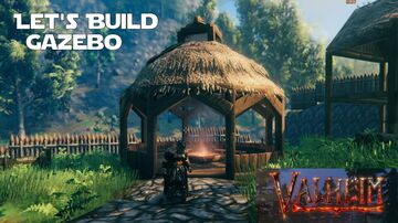 Improving the View in my Town with a Gazebo Valheim Build