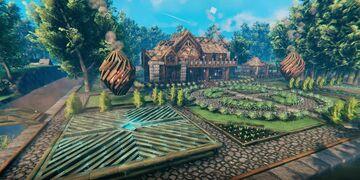 Lin's beautiful mansion Valheim Build