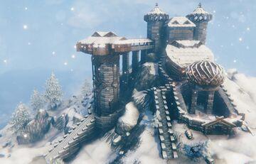 Castle of Relique Valheim Build