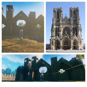 Reims Cathedral Build in Progress Valheim Build