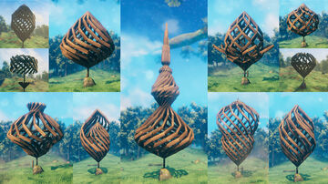 Spiral Structures - Not Really a Building, But Cool to Look at Valheim Build