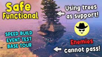 Safe and Functional Base on Water Valheim Build
