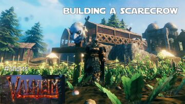 A Youtube #Short on Making a Viking Scarecrow Valheim Build