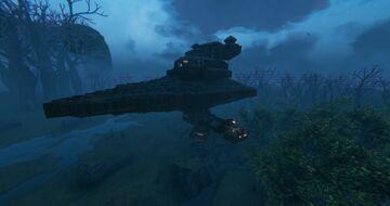 My Star Destroyer Base - Work in progress Valheim Build