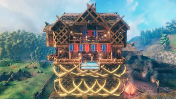 The Viking Hotel is open for Business Valheim Build