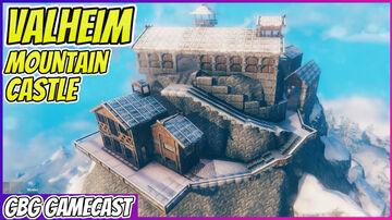 Valheim Mountain Castle Build Tour Valheim Build