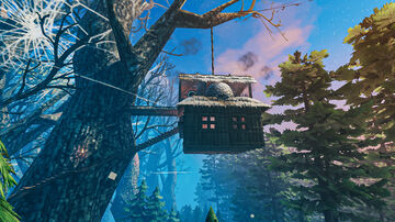 Simple Shack Hanging from a Tree Valheim Build