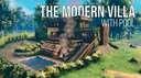 The Modern Villa (With Cellar) Valheim Build