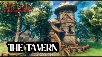 Tavern in the meadows (contest) Valheim Build