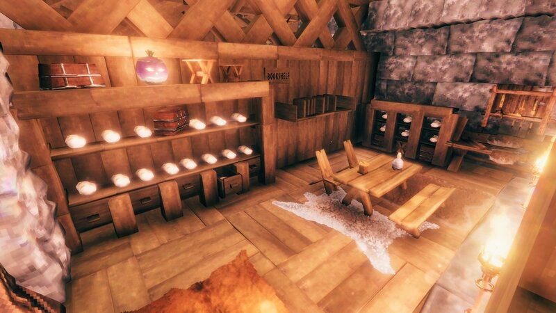 library, with ancient scroll and bookshelf. bookshelf idea are from ghost. cheers