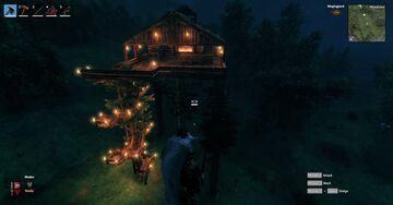 Tree Top House | Valheim Time-Lapse Build Valheim Build