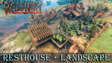 Resthouse with full Landscape Valheim Build