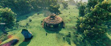A round house Valheim Build