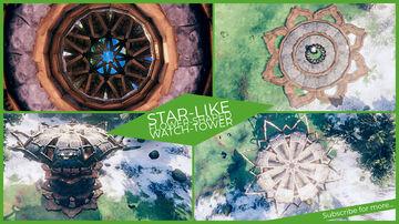Star-like, Flower-Shaped, Watch-Tower Valheim Build