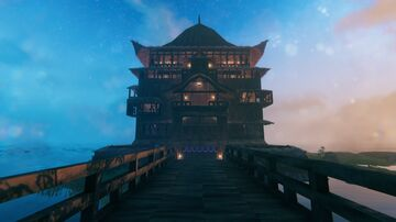 Yubaba's Bathhouse from Spirited Away Valheim Build