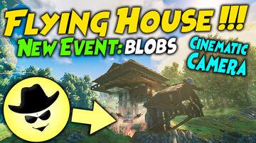Flying House !!! - New Event: blobs | Valheim Valheim Build