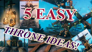 5 AMAZING AND EASY TO MAKE THRONE IDEAS!!! (NO ADDONS!) Valheim Build