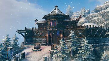 Winter village pt1 Valheim Build